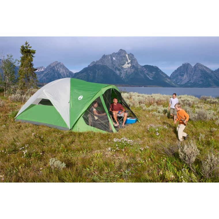 Coleman tent people using it
