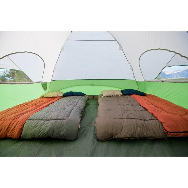 Coleman tent interior