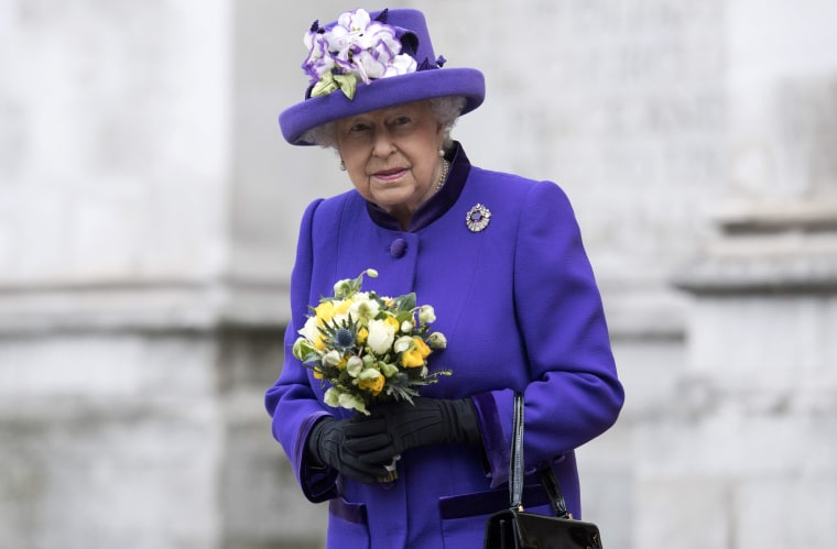 Image: The queen attends a public engagement in November.