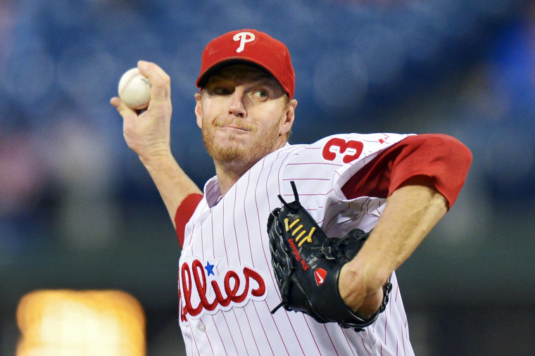 Image: FILE: Former MLB Pitcher Roy Halladay