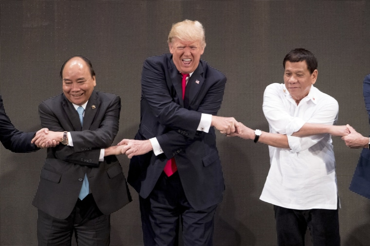Image: Trump and Duterte