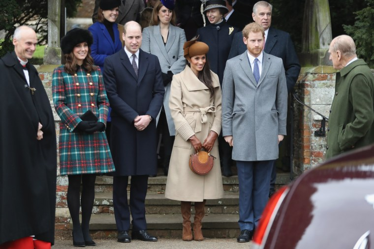 Image: Members Of The Royal Family Attend St Mary Magdalene Church In Sandringham