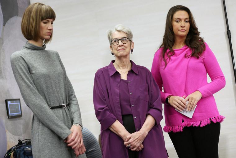 Image: Rachel Crooks, Jessica Leeds and Samantha Holvey