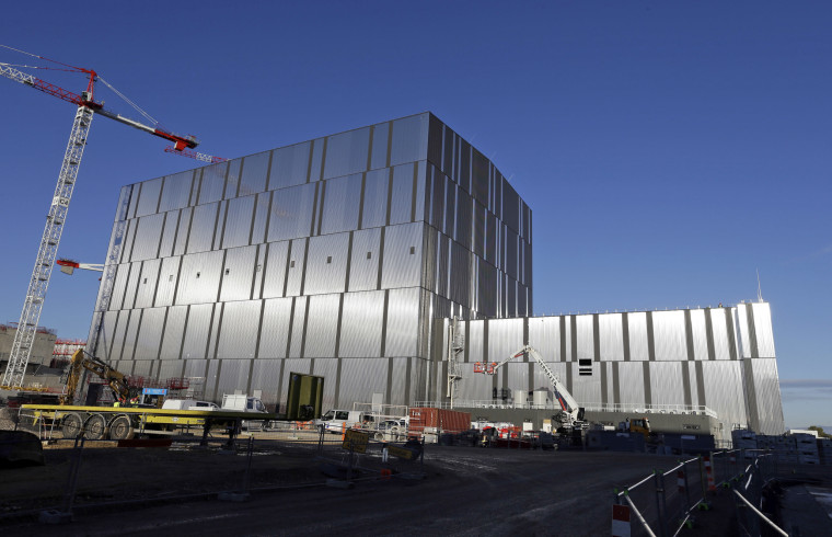 The assembly hall at ITER ( the International Thermonuclear Experimental Reactor), where components for the ITER Tokamak will be pre-assembled before integration into the machine, in Cadarache, southern France,on Dec. 13.