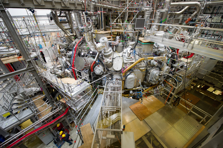The Wendelstein 7-X fusion reactor in Greifswald, Germany in 2015.