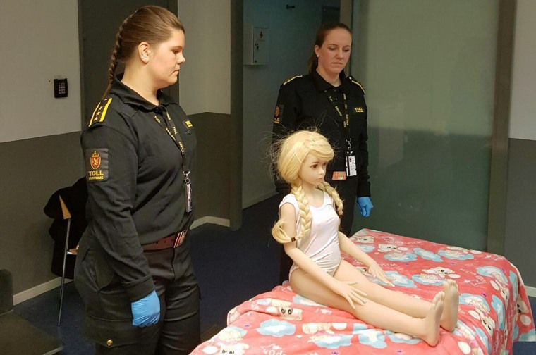 Image: Norwegian customs officials confiscate a sex doll
