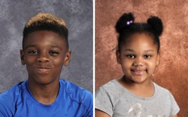 Image: Jeremiah Myers, 11; and Shanise Myers, 5