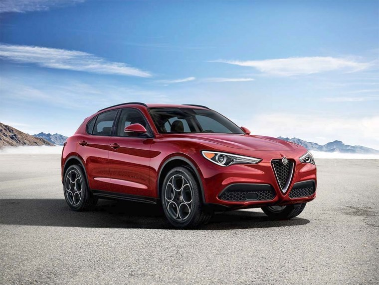 The 2018 Alfa Romeo Stelvio is the Italian brand's first SUV.