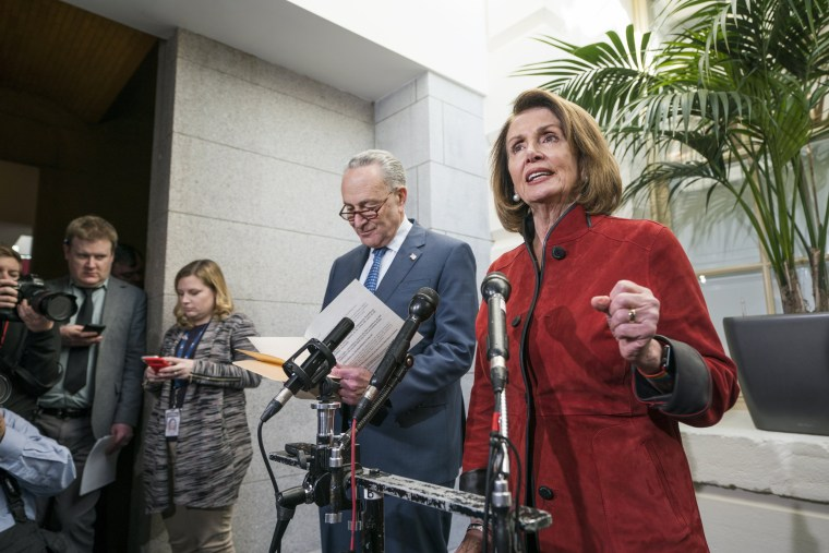 Image: Pelosi, Schumer speak about House and Senate Republicans reaching tax deal
