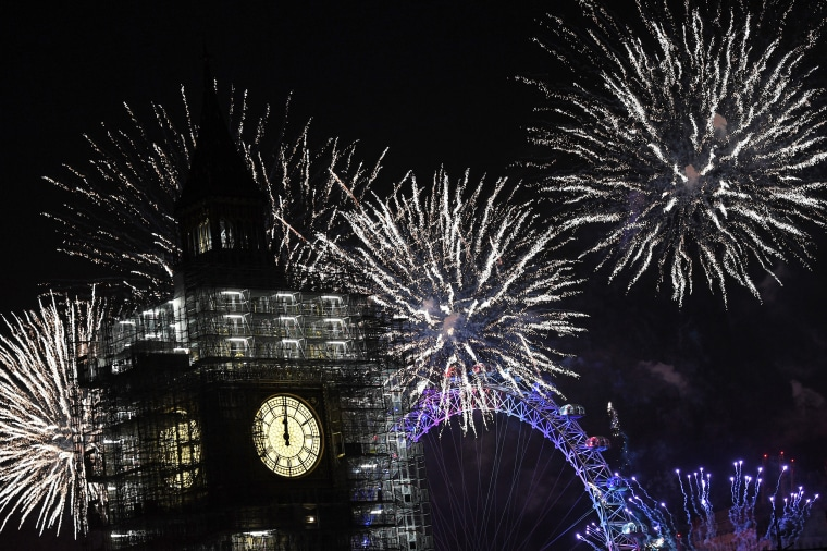 Image: Thousands Gather In London To Ring In 2018 With Firework Celebrations
