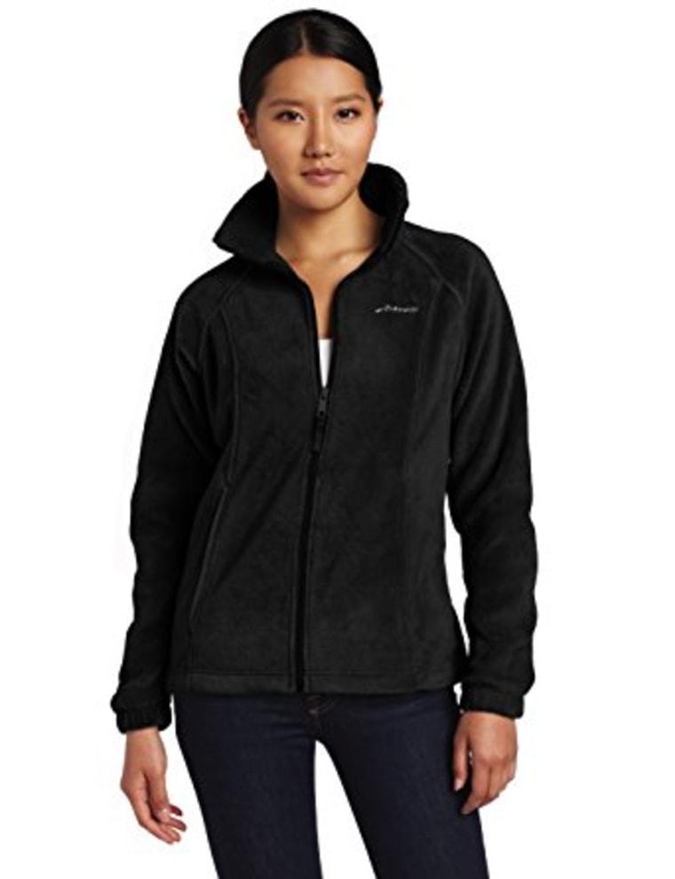 Columbia fleece jacket in black