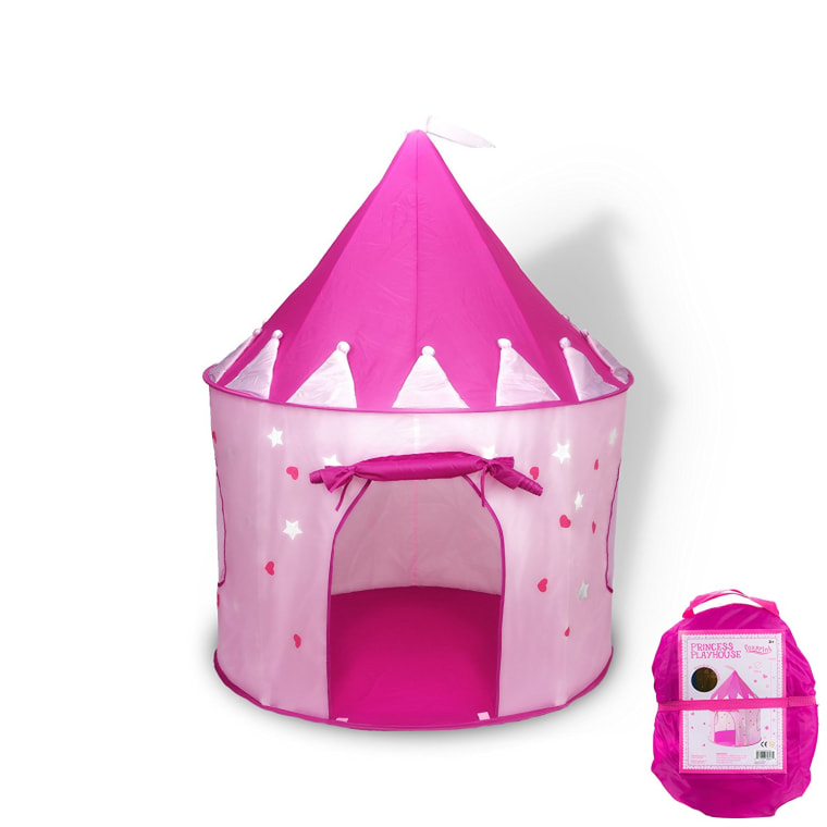 Pink princess castle with stars