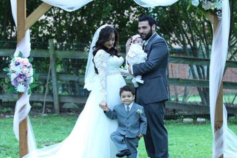 Samir and Stephanie Deais with their children, Alex Vasquez and Ava Deais.