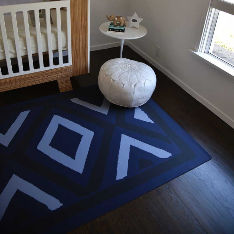 Blue mat in nursery
