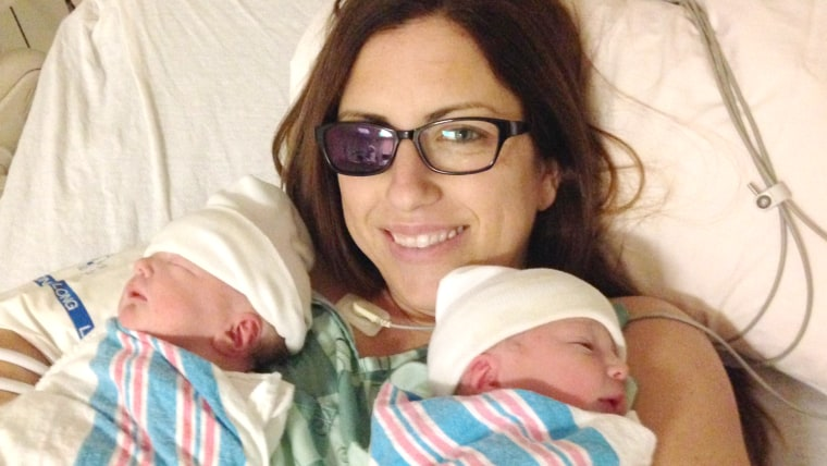 Shows Jessica Boesmiller who lost her eye to ocular melanoma and gave birth to twins.
