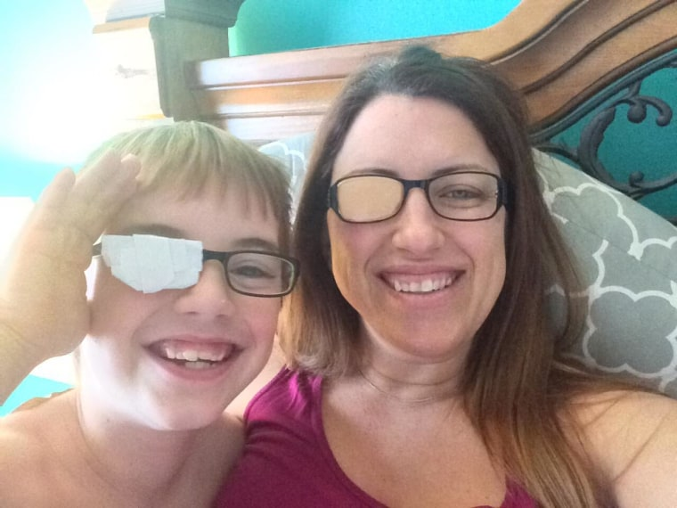 Jessica Boesmiller lost her eye to ocular melanoma and gave birth to twins.