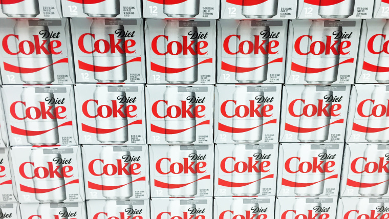 SPENCER , WISCONSIN, March,22, 2016  Cases of Diet Coke on display on a grocery store shelf   Coca Cola is an American based company founded in 1886; Shutterstock ID 394467601; Purchase Order: -
