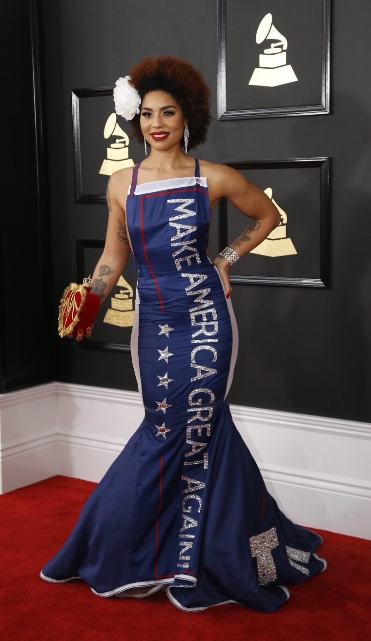 Image: Joy Villa arrives at the 59th Annual Grammy Awards in Los Angeles