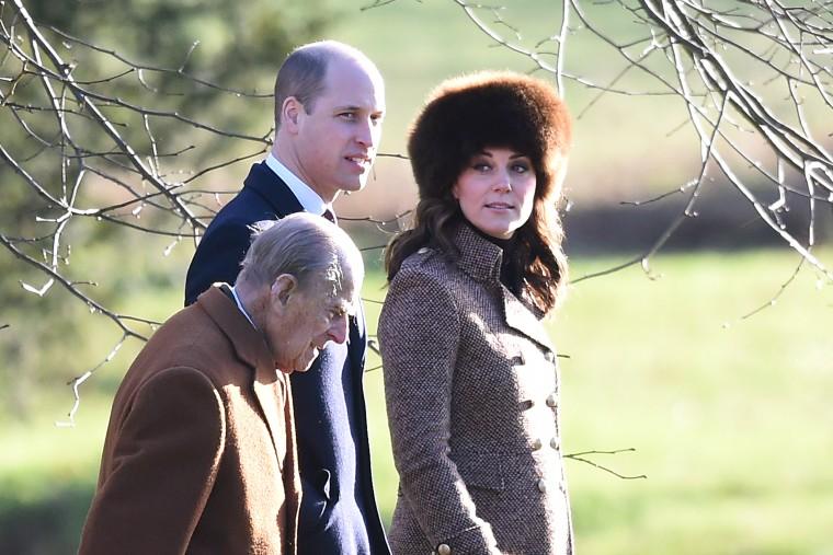 Royals attend church