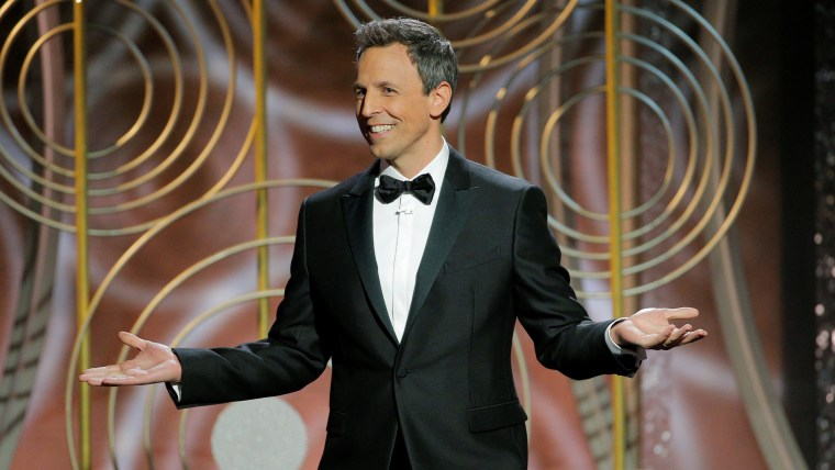 Image: Seth Meyers hosts the 75th Golden Globe Awards in Beverly Hills, California,