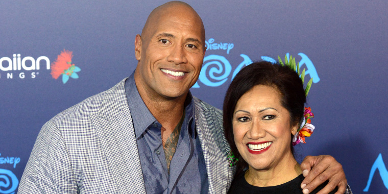 Dwayne Johnson and mom