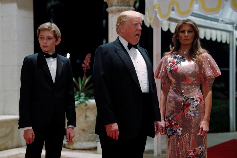 Image: Barron Trump, Donald Trump and Melania Trump