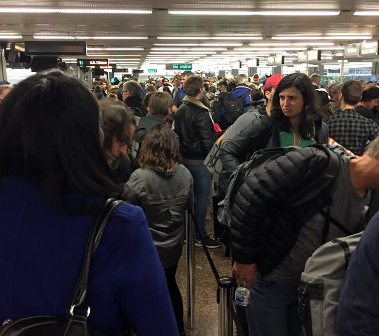 Outage at Customs and Border Protection leads to long lines