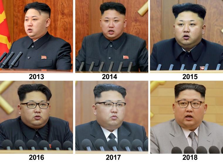 Image: Kim Jong Un's New Year's Day address since 2013