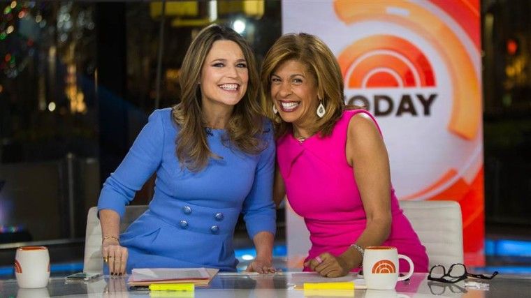 Savannah Guthrie and Hoda Kotb on 'Today' on Jan. 2, 2018.