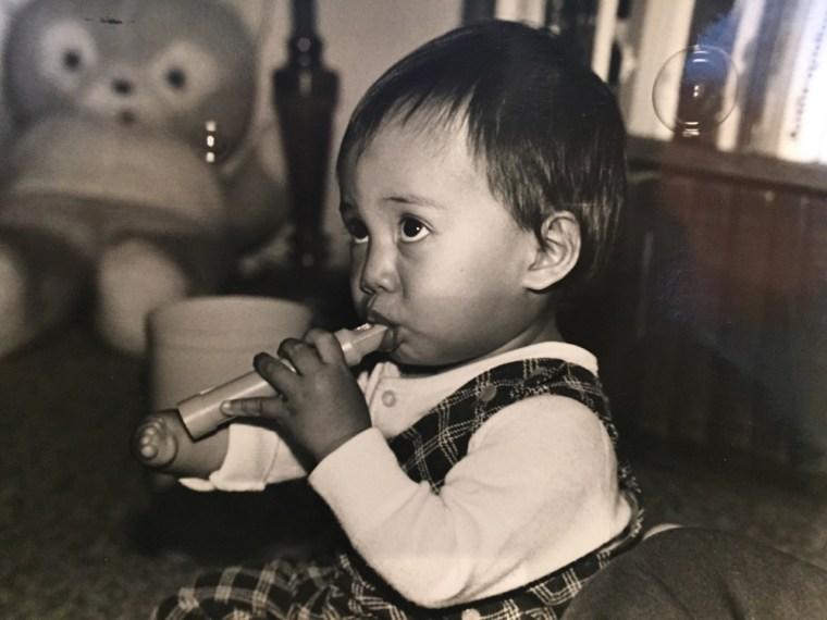 Adrian Anantawan as a baby.