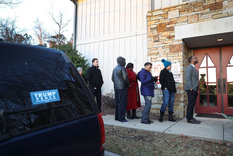 Image: Voters In Alabama Head To The Polls For State's Special Election To Fill Jeff Sessions Seat