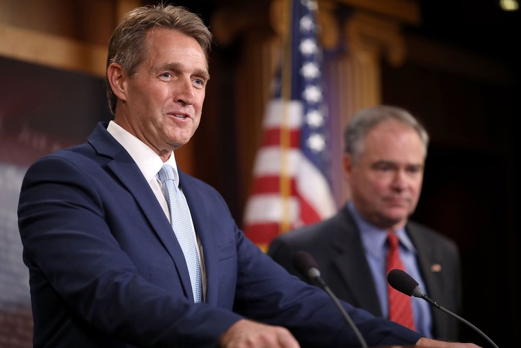 Image: Senators Flake And Kaine Promote Use Of Military Force Against Terror Groups