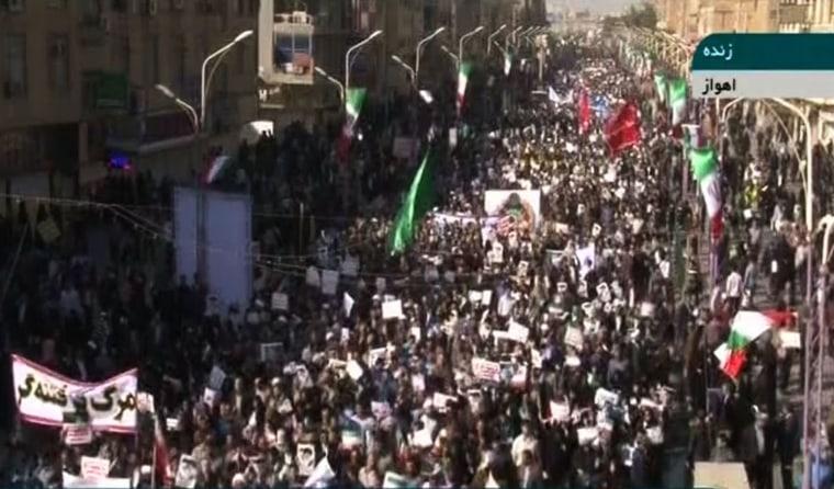 Image: Pro-government demonstrators