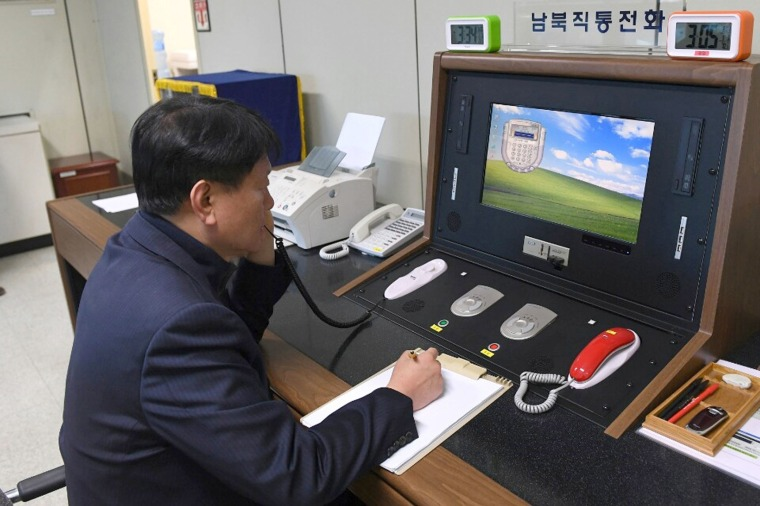 Image: North Korea reopens communication channel with South Korea