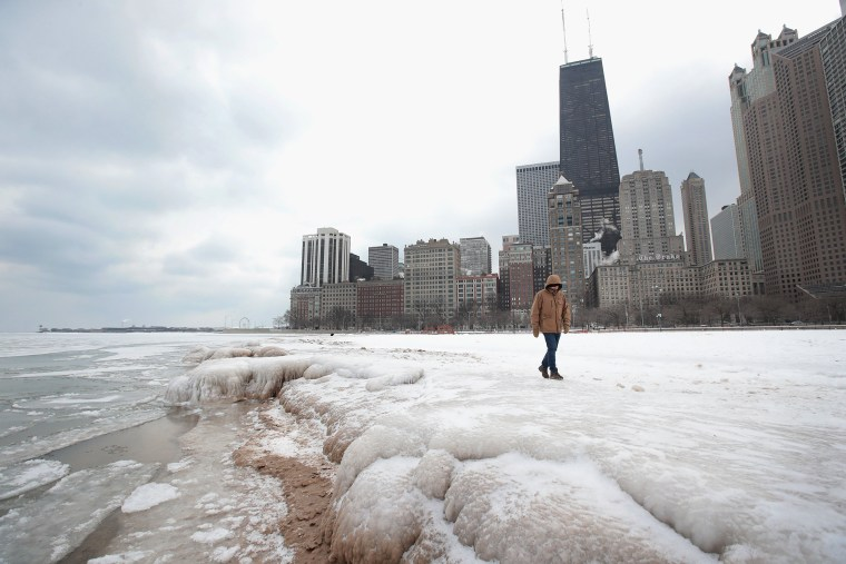 Image: Chicago's Deep Freeze Continues With Single Digit Temperatures