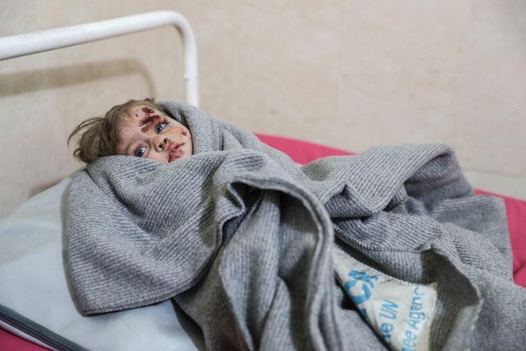 Image: Air raids in Eastern Ghouta