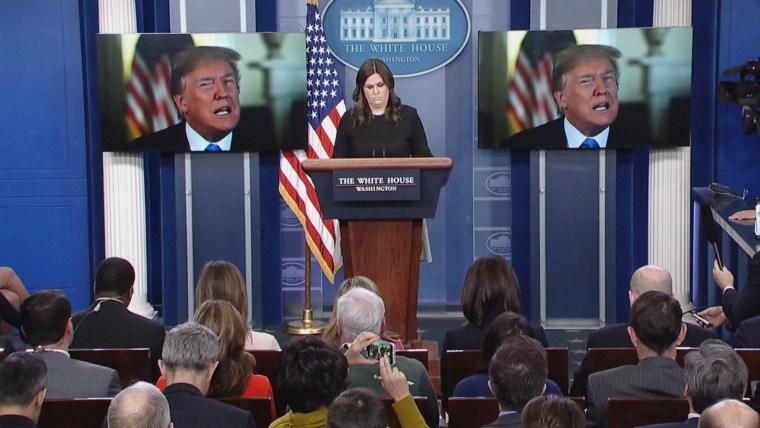 Image: White House Press Secretary Sarah Huckabee Sanders