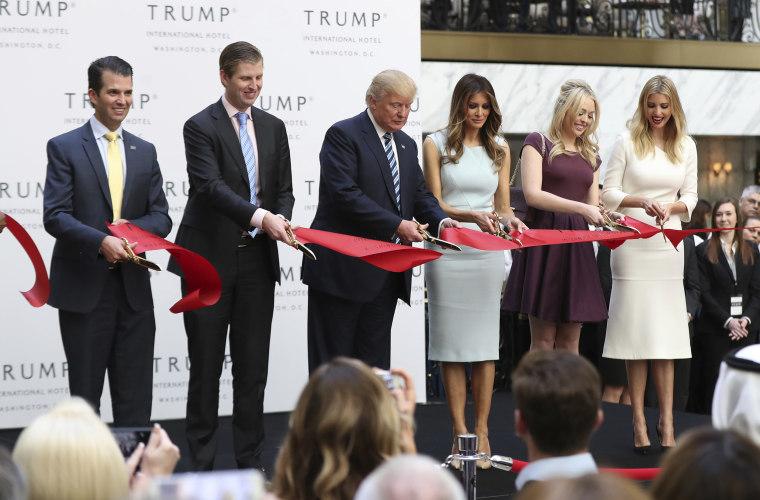Image: Donald Trump, Donald Trump Jr., Eric Trump, Melania Trump, Tiffany Trump, Ivanka Trump