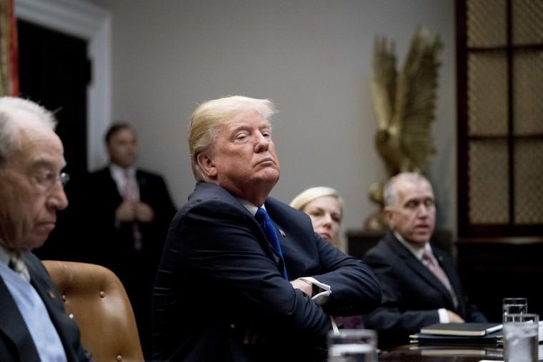 Image: President Donald Trump meets with Republican Senators