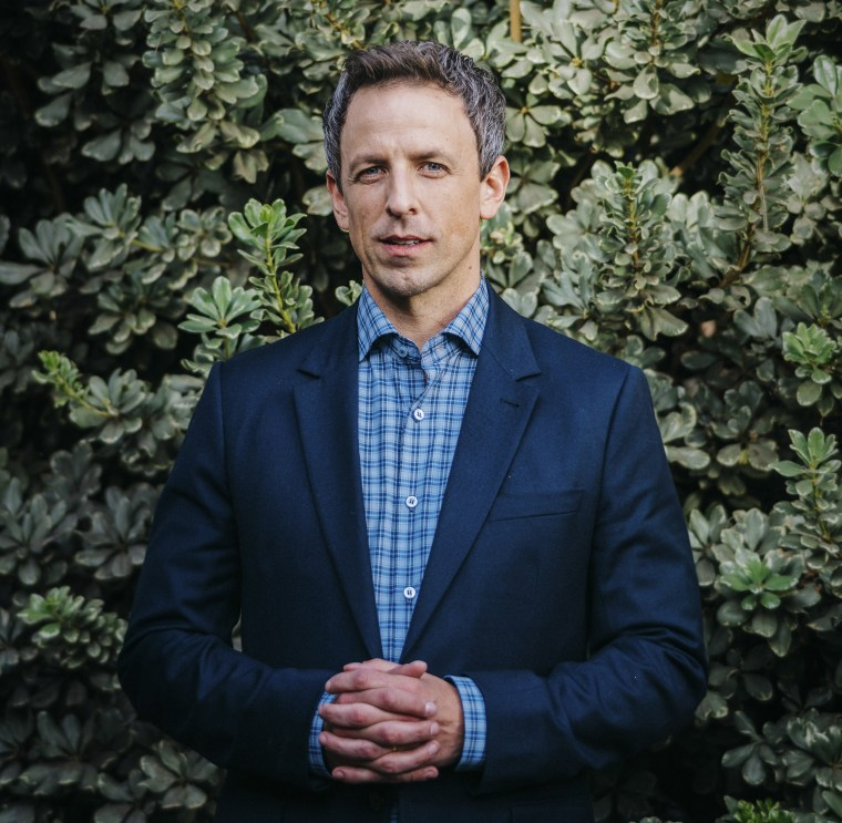 """Image: Seth Meyers, the host of NBC's \""""Late Night,\"""" in Burbank, Calif."""