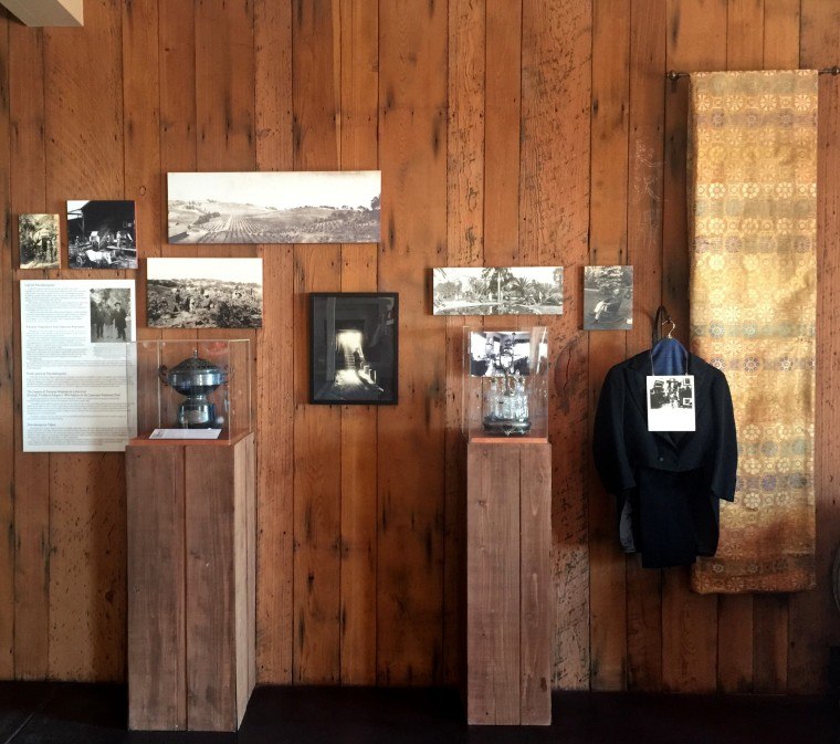 A former exhibit about Kanaye Nagasawa at the Paradise Ridge Winery. The exhibit — and much of the winery — burned down in the 2017 Tubbs Fire.