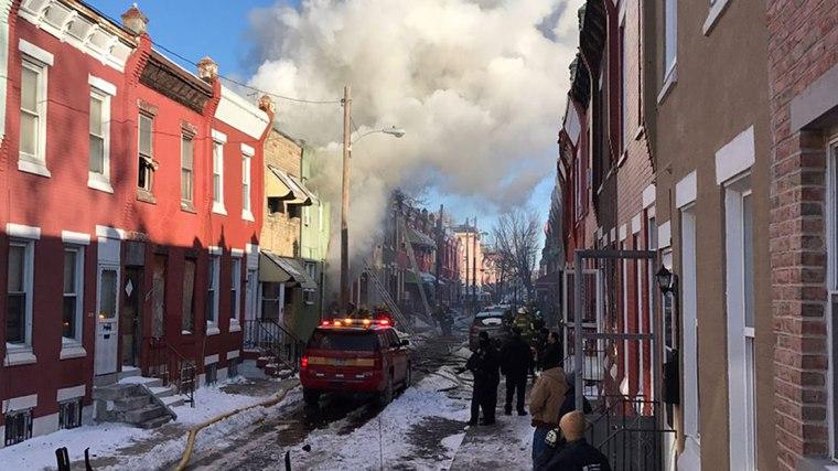 Image: Firefighters battled a blaze in the 2200 block of North Colorado Street in Philadelphia on Jan. 6, 2018.