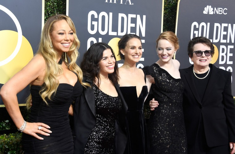 Image: Mariah Carey, America Ferrera, Natalie Portman, Emma Stone and Billie Jean King