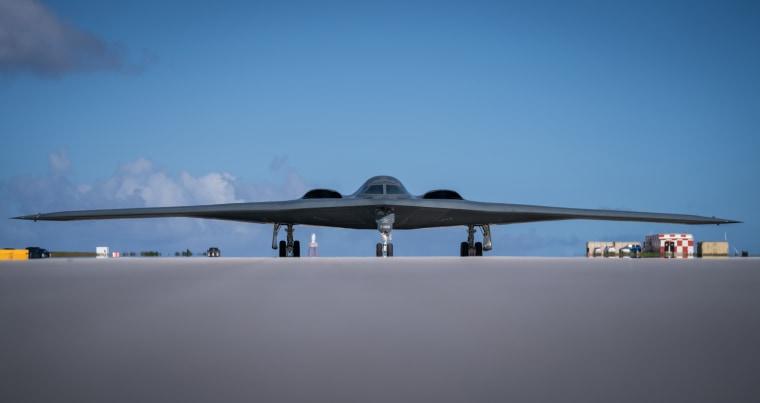 B-2s land at Andersen Air Force Base