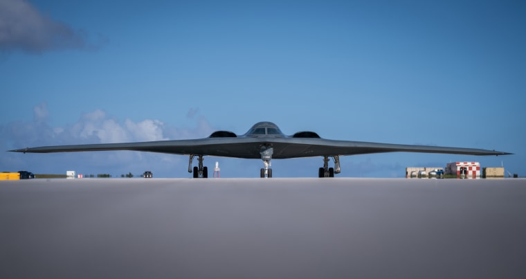 B-2s land at Andersen Air Force Base