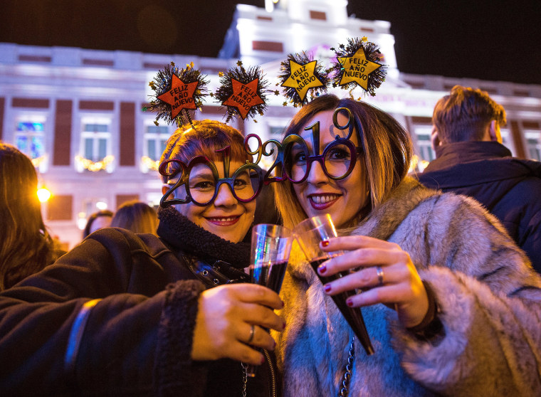 Image: New Year's 2019 celebrations in Madrid