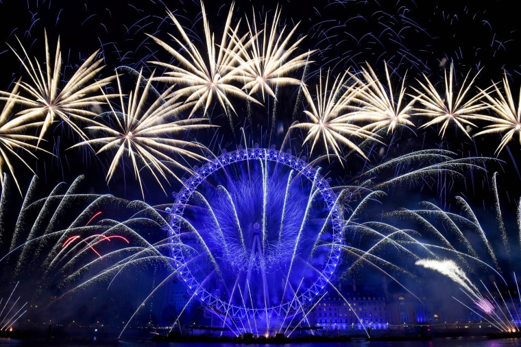 Image: London New Year Fireworks Display 2019