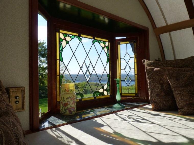 Trillium Caravan stained glass windows