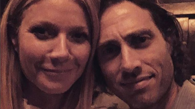 Gwyneth Paltrow with her fiancé, TV writer and producer Brad Falchuk.