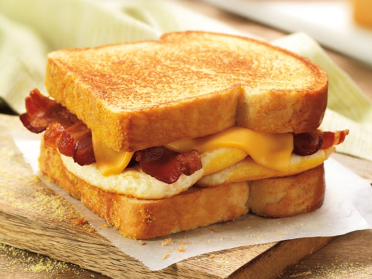The big n' toasted breakfast sandwich is among the items leaving the Dunkin' Donuts menu.